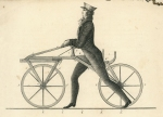 Technical drawing of the laufmaschine published by Karl von Drais in 1817. credit TECHNOSEUM 2 wheels - 200 years